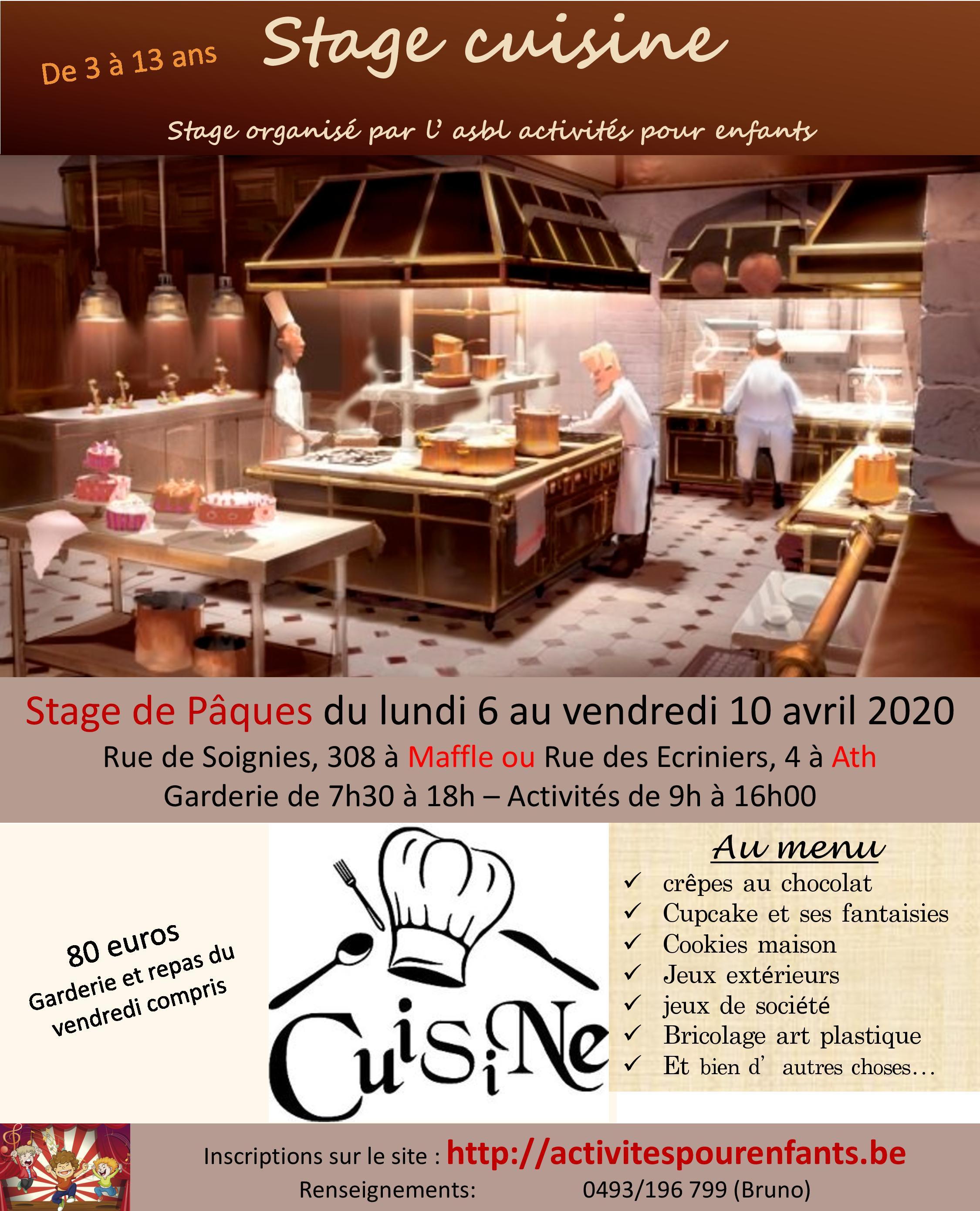 Stage cuisine Ath ou Maffle