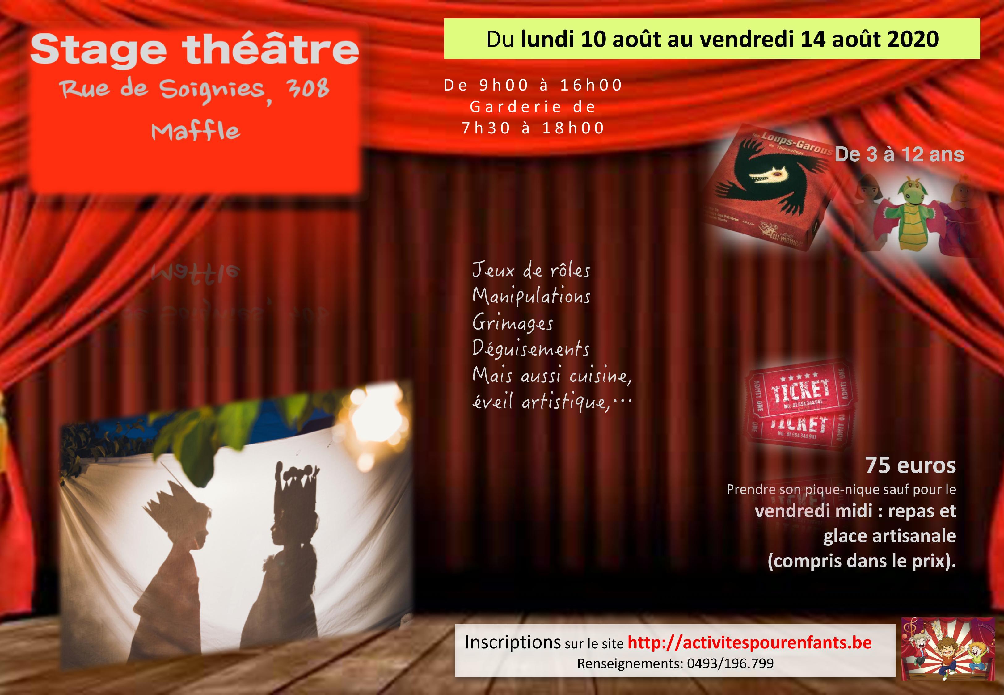 Stage théâtre août