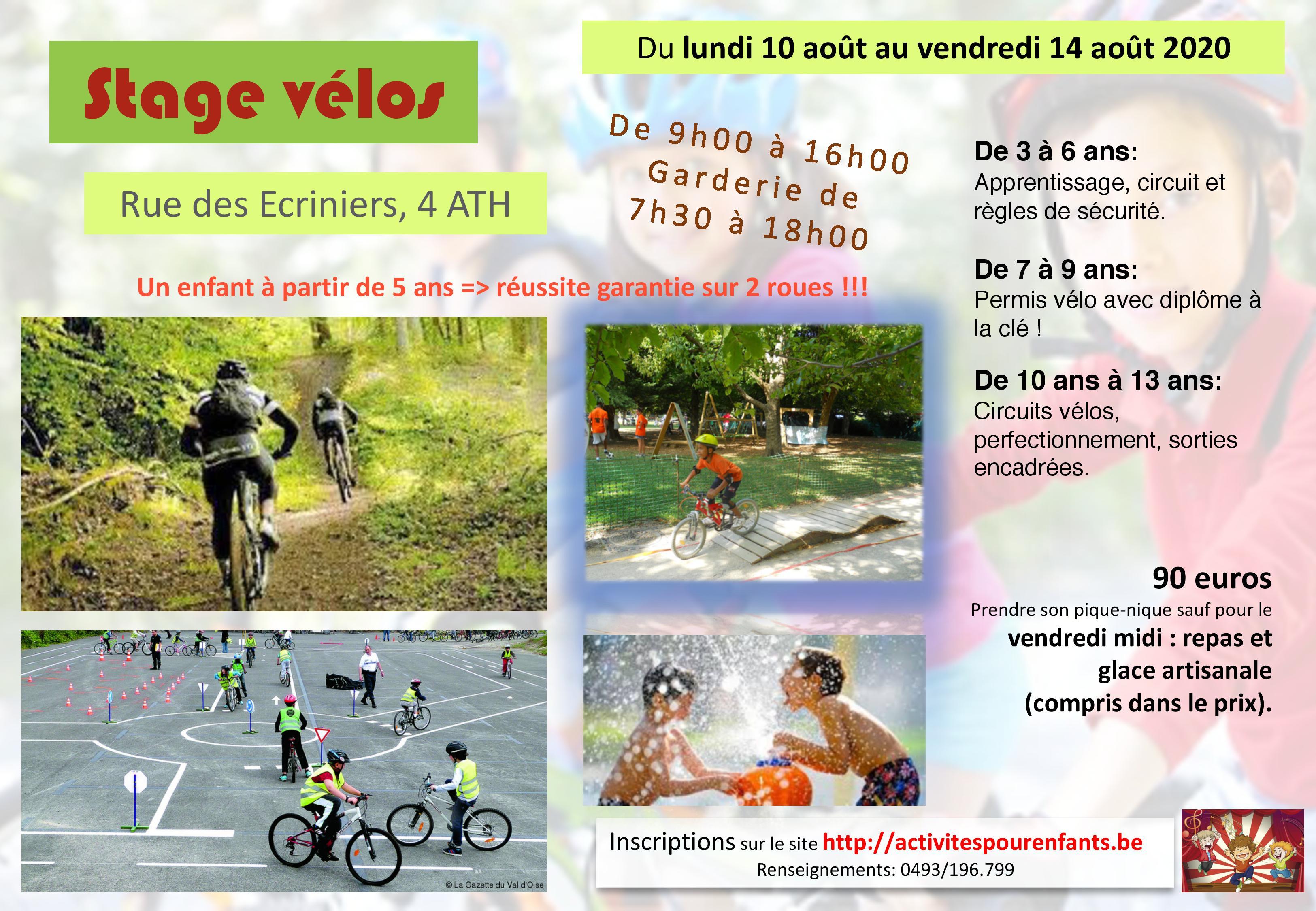 Stage vélos août Ath
