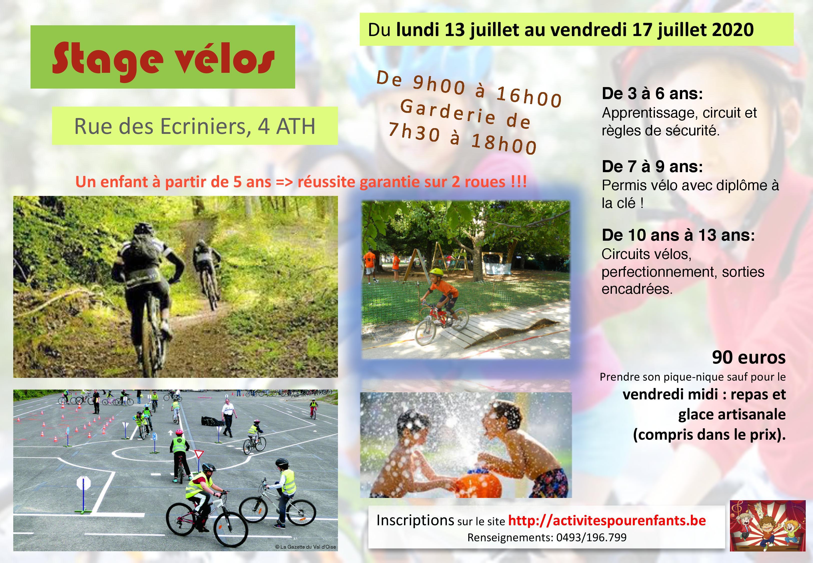 Stage vélos Ath