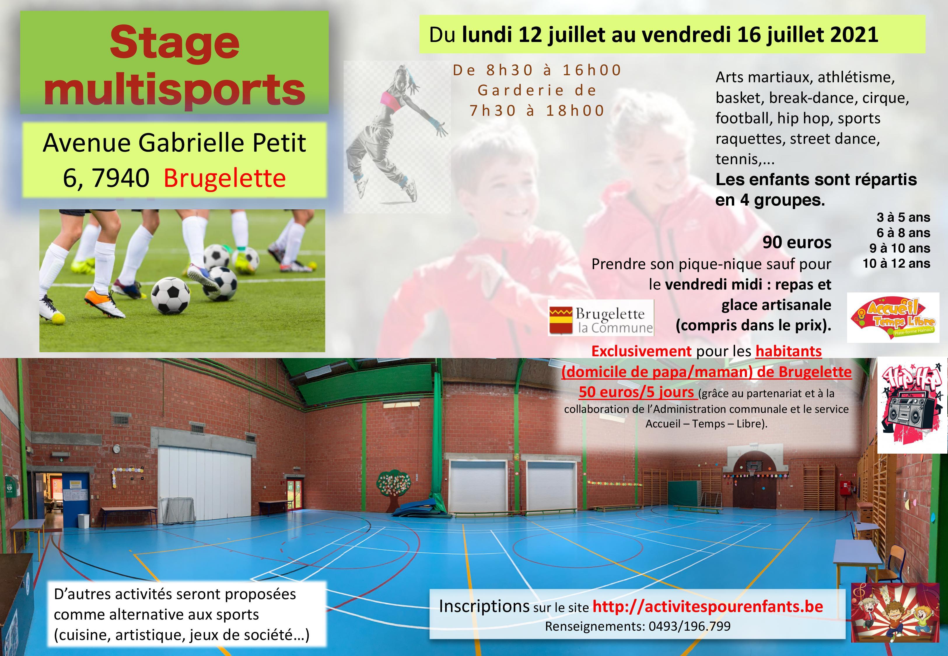 Stage multisports à Brugelette