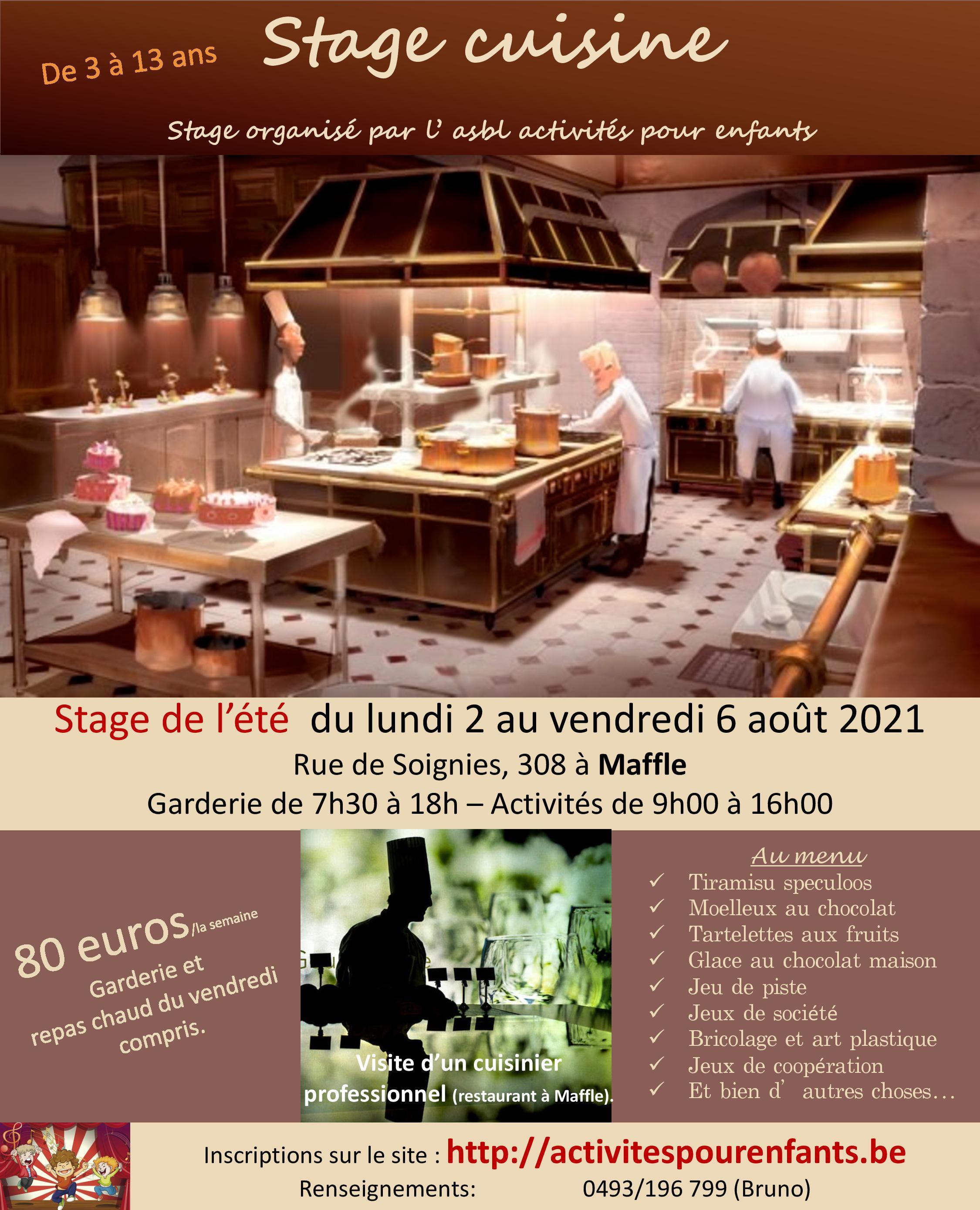 Stage cuisine à Maffle