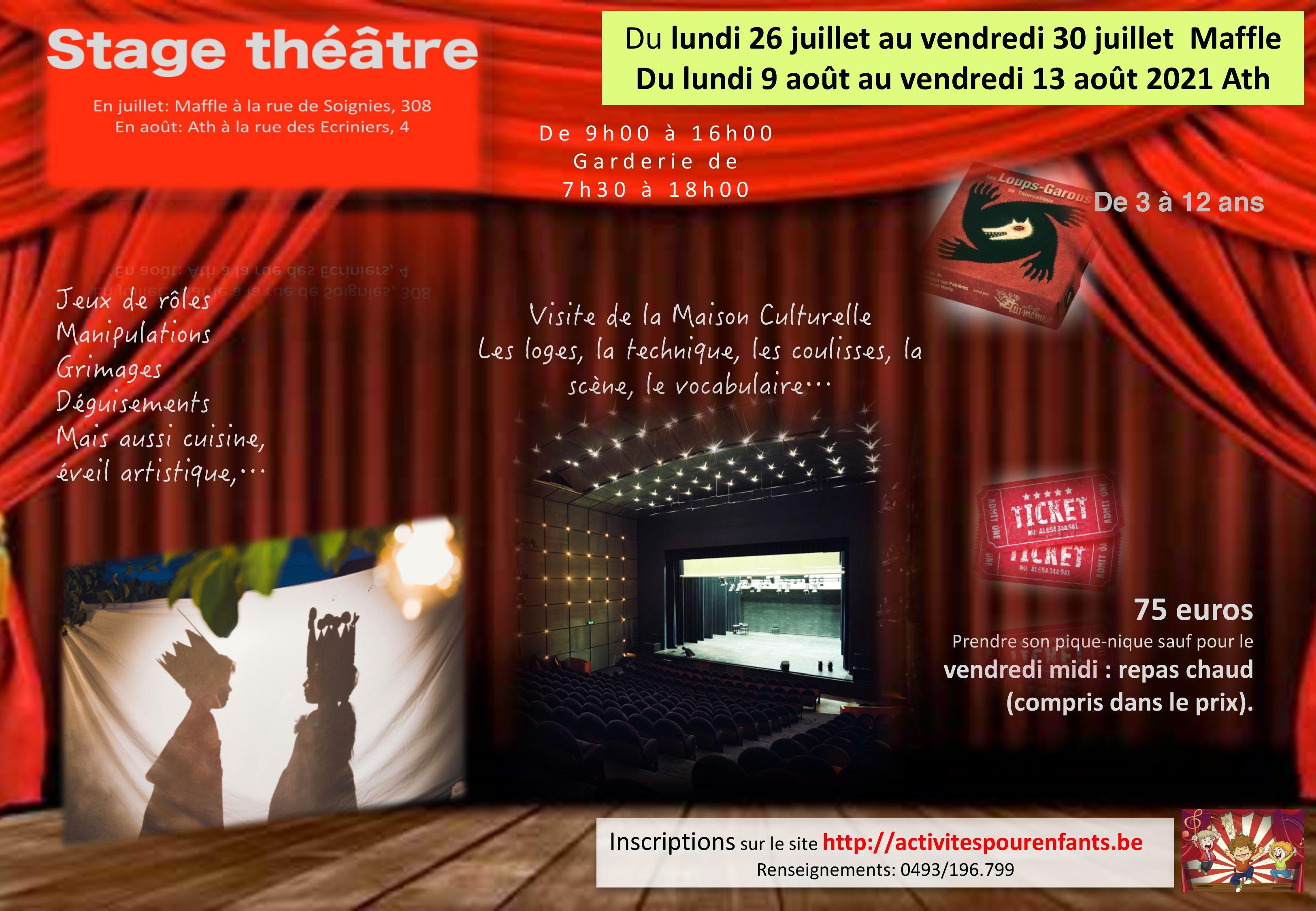 Stage théâtre Ath et Maffle